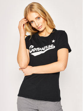 Converse Converse T-shirt Center Front Logo Tee 10018268-A01 Noir Regular Fit