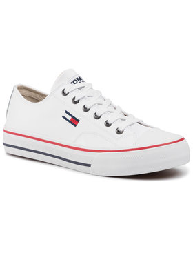 Tommy Jeans Tommy Jeans Sportbačiai Leather City Sneaker EM0EM00394 Balta