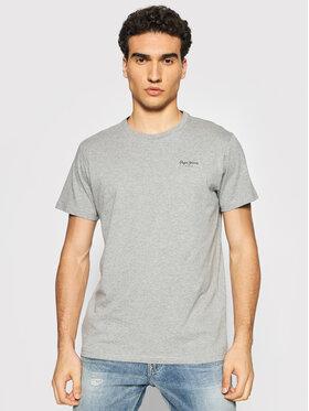 Pepe Jeans Pepe Jeans T-shirt Derek PM508011 Grigio Regular Fit