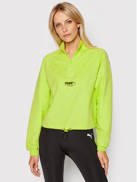Puma Puma Bluză Half Zip 597748 Verde Regular Fit