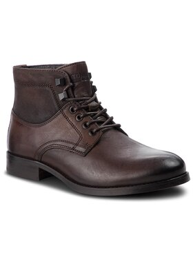Tommy Jeans Tommy Jeans Auliniai batai Casual Leather Boot EM0EM00141 Ruda