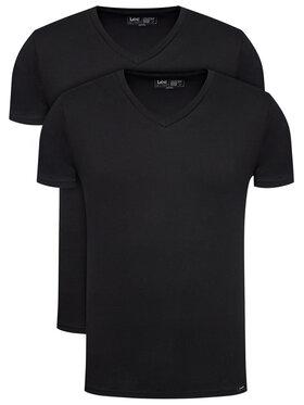 Lee Lee Komplet 2 t-shirtów Twin Pack L62ECM01 Czarny Fitted Fit