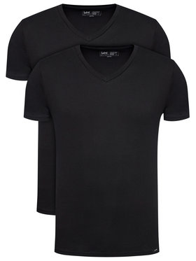 Lee Lee Σετ 2 T-Shirts Twin Pack L62ECM01 Μαύρο Fitted Fit