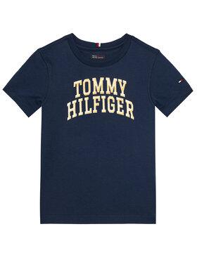 TOMMY HILFIGER TOMMY HILFIGER Тишърт Logo Tee KB0KB06097 M Тъмносин Regular Fit