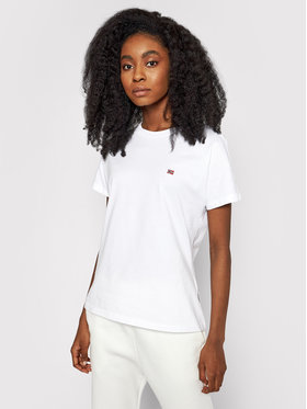 Napapijri Napapijri T-Shirt Saliss NP0A4FAC Biały Regular Fit