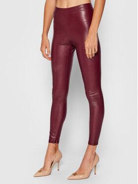 MICHAEL Michael Kors MICHAEL Michael Kors Pantalon en simili cuir MU1304Y2S8 Bordeaux Slim Fit