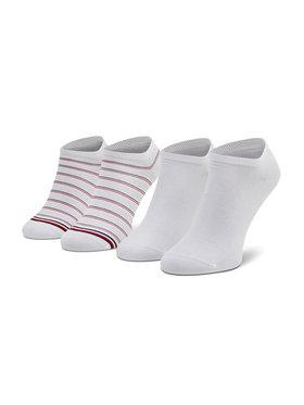 Tommy Hilfiger Tommy Hilfiger Sada 2 párů dámských nízkých ponožek 100002818 Bílá