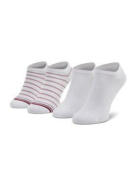 Tommy Hilfiger Tommy Hilfiger Set di 2 paia di calzini corti da donna 100002818 Bianco