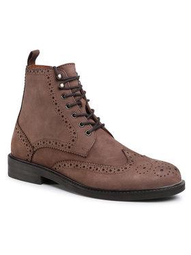 Gino Rossi Gino Rossi Šnurovacia obuv MI07-A962-A791-17 Hnedá