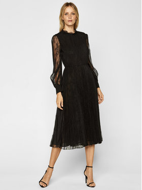 Marella Marella Koktejlové šaty Clivia 36261006 Čierna Regular Fit