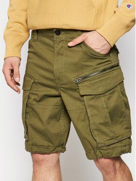 G-Star Raw G-Star Raw Bavlnené šortky Rovic D08566-5126-724 Zelená Relaxed Fit