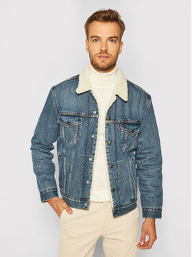 Levi's® Levi's® Farmer kabát Type III Sherpa 16365-0128 Kék Regular Fit