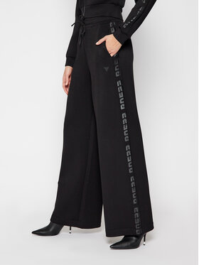 Guess Guess Παντελόνι υφασμάτινο O1RA57 K7UW0 Μαύρο Oversize