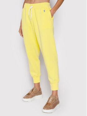Polo Ralph Lauren Polo Ralph Lauren Spodnie dresowe 211794397021 Żółty Regular Fit