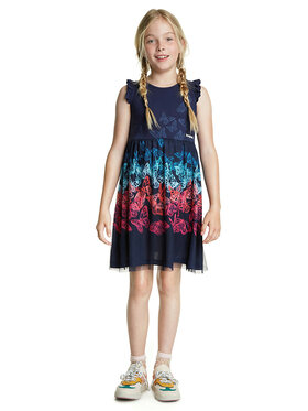 Desigual Desigual Kleid für den Alltag Uruapan 20SGVK47 Dunkelblau Regular Fit
