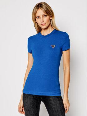 Guess Guess Póló Mini Triangle Tee W1RI04 J1311 Kék Slim Fit