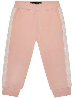 Guess Guess Παντελόνι φόρμας K0YQ02 KA6V0 Ροζ Regular Fit