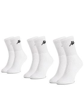 Kappa Kappa 3er-Set hohe Unisex-Socken Sonotu 704304 Weiß