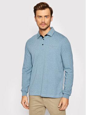 Pierre Cardin Pierre Cardin Тениска с яка и копчета 53604/000/12315 Син Regular Fit