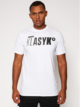 PROSTO. PROSTO. T-shirt KLASYK Twig 9176 Bianco Regular Fit