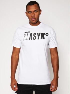 PROSTO. PROSTO. T-shirt KLASYK Twig 9176 Bijela Regular Fit