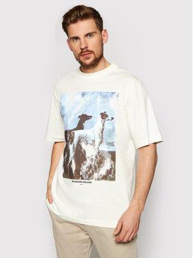 Trussardi Trussardi T-Shirt Pure 52T00455 Biały Over Fit