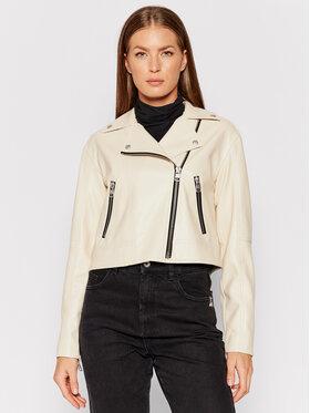 Calvin Klein Jeans Calvin Klein Jeans Bunda z imitácie kože J20J216264 Béžová Slim Fit