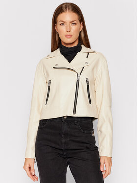 Calvin Klein Jeans Calvin Klein Jeans Veste en simili cuir J20J216264 Beige Slim Fit