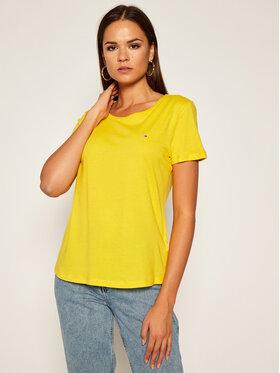 Tommy Jeans Tommy Jeans T-Shirt Soft DW0DW06901 Žlutá Regular Fit