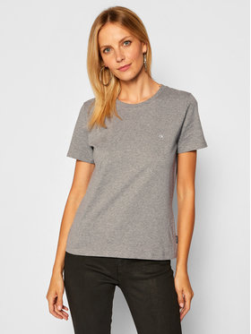Calvin Klein Calvin Klein Marškinėliai Small Logo K20K202132 Pilka Regular Fit