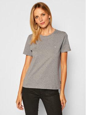 Calvin Klein Calvin Klein T-Shirt Small Logo K20K202132 Szary Regular Fit