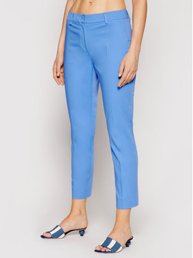 Weekend Max Mara Weekend Max Mara Pantaloni chino Faraone 51310611 Albastru Regular Fit