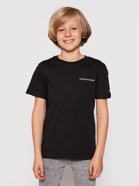 Calvin Klein Jeans Calvin Klein Jeans T-Shirt Chest Logo IB0IB00456 Czarny Regular Fit