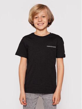 Calvin Klein Jeans Calvin Klein Jeans Тишърт Chest Logo IB0IB00456 Черен Regular Fit
