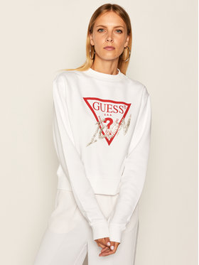 Guess Guess Bluză Icon W0YQ47 K68I0 Alb Regular Fit