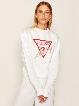 Guess Guess Bluza Icon W0YQ47 K68I0 Biały Regular Fit