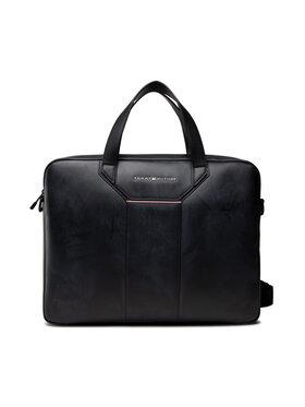 Tommy Hilfiger Tommy Hilfiger Чанта за лаптоп Th Commuter Computer Bag AM0AM07556 Черен
