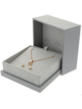 Michael Kors Michael Kors Schmuckset Halskette und Ohrringe Padlock Lariat MKC1130AN791 Goldfarben