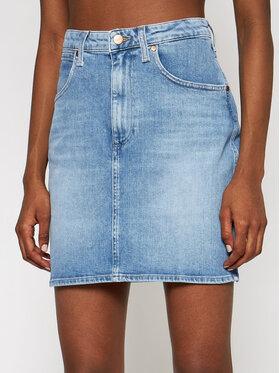 Wrangler Wrangler Spódnica jeansowa Mom W22VJH28X Granatowy Slim Fit