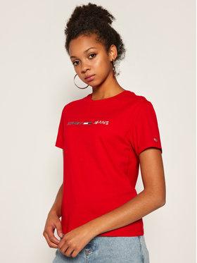 Tommy Jeans Tommy Jeans T-Shirt Americana Logo DW0DW08486 Červená Regular Fit