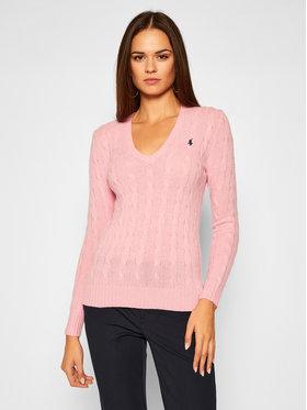Polo Ralph Lauren Polo Ralph Lauren Svetr Kimberly Wool/Cashmere 211508656065 Růžová Regular Fit
