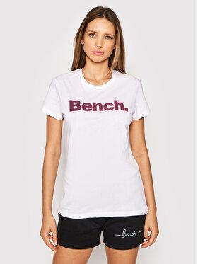 Bench Bench T-shirt Leora 117360 Bianco Regular Fit