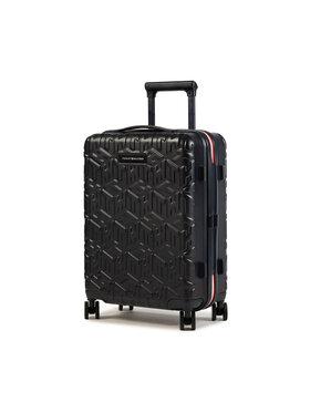 Tommy Hilfiger Tommy Hilfiger Kis kemény borítású bőrönd Tommy Monogram Case 20 AU0AU01063 Fekete