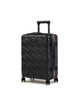 Tommy Hilfiger Tommy Hilfiger Малък твърд куфар Tommy Monogram Case 20 AU0AU01063 Черен