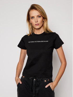 Victoria Victoria Beckham Victoria Victoria Beckham T-shirt Single 2121JTS002433A Crna Regular Fit