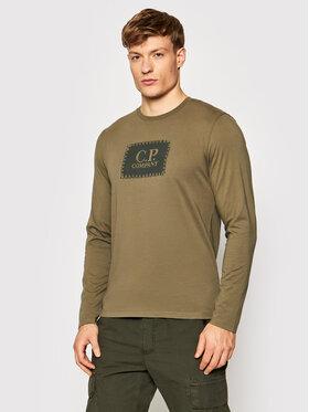 C.P. Company C.P. Company Longsleeve Label Logo 11CMTS126A 005100W Grün Regular Fit