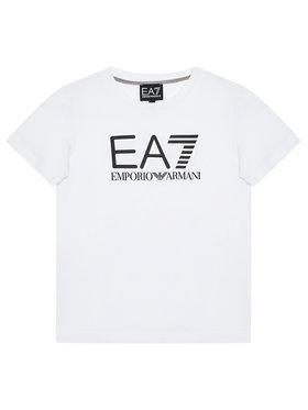 EA7 Emporio Armani EA7 Emporio Armani T-Shirt 6KBT53 BJ02Z 1100 Biały Regular Fit