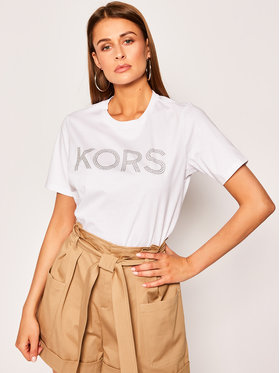 MICHAEL Michael Kors MICHAEL Michael Kors T-Shirt Studded Logo MS05MP197J Weiß Regular Fit