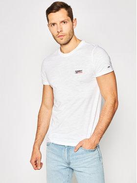 Tommy Jeans Tommy Jeans T-Shirt Texture Logo DM0DM07813 Bílá Regular Fit
