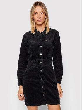 Wrangler Wrangler Marškinių tipo suknelė Western W9N42BXCK Juoda Regular Fit